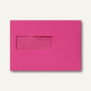 Farbige Briefumschläge 156x220mm nasskleb. Fenster li 40x110mm fuchsie 500St.