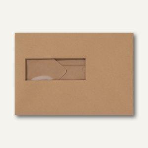 Farbige Briefumschläge 156x220mm nasskleb. Fenster li 40x110mm braun 500St.