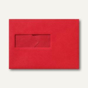 Farbige Briefumschläge 156x220mm nasskleb. Fenster li 40x110mm rosenrot 500St.