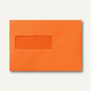 Farbige Briefumschläge 156x220mm nasskleb. Fenster li 40x110mm dunkelorange 500St.