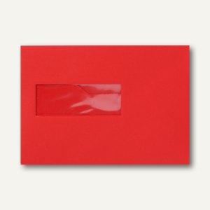 Farbige Briefumschläge 156x220mm nasskleb. Fenster li 40x110mm korallenrot 500St.