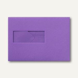Farbige Briefumschläge 156x220mm nasskleb. Fenster li 40x110mm violett 500St.
