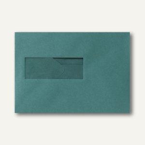 Farbige Briefumschläge 156x220mm nasskleb. Fenster li 40x110mm dunkelgrün 500St.