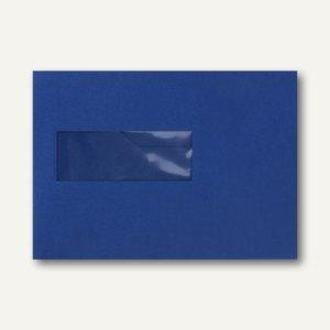 Farbige Briefumschläge 156x220mm nasskleb. Fenster li 40x110mm dunkelblau 500St.