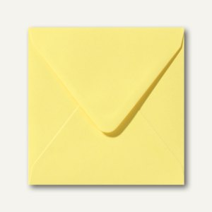 Briefumschläge 120 x 120 mm nassklebend ohne Fenster kanariengelb 500St.