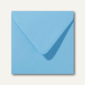 Briefumschläge 120 x 120 mm nassklebend ohne Fenster ozeanblau 500St.