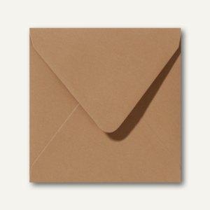 Briefumschläge 120 x 120 mm nassklebend ohne Fenster braun 500St.
