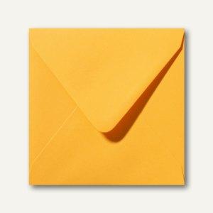 Briefumschläge 120 x 120 mm nassklebend ohne Fenster goldgelb 500St.