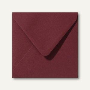 Briefumschläge 120 x 120 mm nassklebend ohne Fenster dunkelrot 500St.