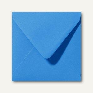 Farbige Briefumschläge 140 x 140 mm nassklebend ohne Fenster königsblau 500St.