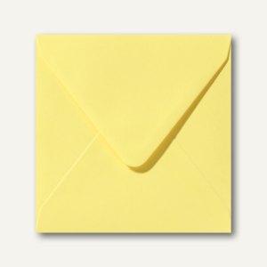Farbige Briefumschläge 140 x 140 mm nassklebend ohne Fenster kanariengelb 500St.