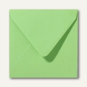 Farbige Briefumschläge 140 x 140 mm nassklebend ohne Fenster apfelgrün 500St.