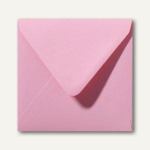 Farbige Briefumschläge 140 x 140 mm nassklebend ohne Fenster dunkelrosa 500St.