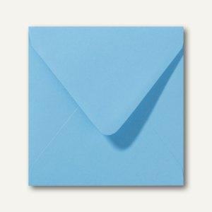 Farbige Briefumschläge 140 x 140 mm nassklebend ohne Fenster ozeanblau 500St.