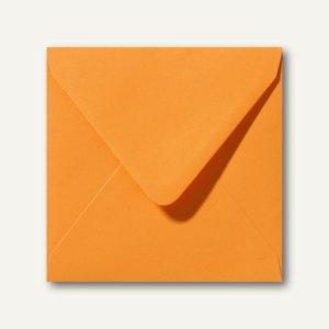 Farbige Briefumschläge 140 x 140 mm nassklebend ohne Fenster grellorange 500St.