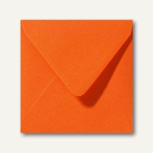 Farbige Briefumschläge 140 x 140 mm nassklebend ohne Fenster dunkelorange 500St.
