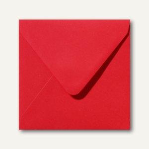 Farbige Briefumschläge 140 x 140 mm nassklebend ohne Fenster korallenrot 500St.