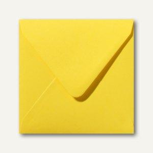 Farbige Briefumschläge 140x140mm nasskleb. ohne Fenster butterblumengelb 500St.
