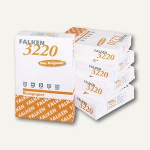 Falken Kopierpapier, DIN A4, 80 g/m², weiß, 500 Blatt, 3220