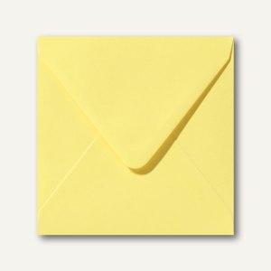 Farbige Briefumschläge 160 x 160 mm nassklebend ohne Fenster kanariengelb 500St.