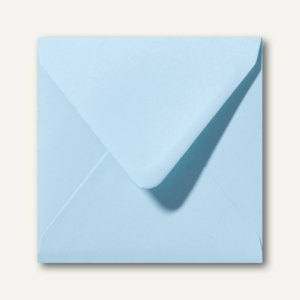 Farbige Briefumschläge 160 x 160 mm nassklebend ohne Fenster laguneblau 500St.