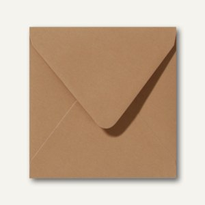 Farbige Briefumschläge 160 x 160 mm nassklebend ohne Fenster braun 500St.