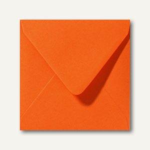 Farbige Briefumschläge 160 x 160 mm nassklebend ohne Fenster dunkelorange 500St.