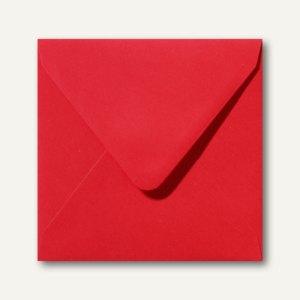 Farbige Briefumschläge 160 x 160 mm nassklebend ohne Fenster korallenrot 500St.