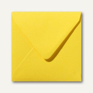 Farbige Briefumschläge 160x160mm nasskleb. ohne Fenster butterblumengelb 500St.