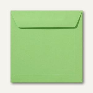 Farbige Briefumschläge 170 x 170 mm, nassklebend, 120 g/qm, apfelgrün, 500St.