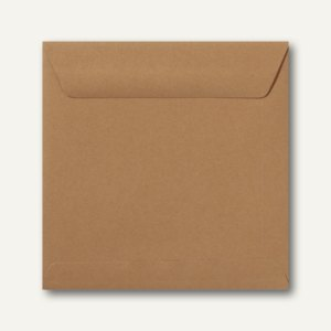 Farbige Briefumschläge 170 x 170 mm, nassklebend, 120 g/qm, braun, 500St.