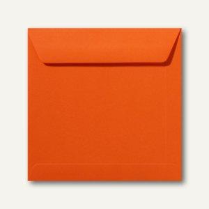 Farbige Briefumschläge 170 x 170 mm nassklebend ohne Fenster dunkelorange 500St.