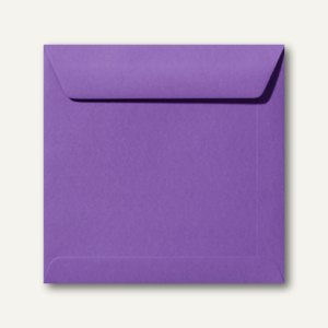 Farbige Briefumschläge 170 x 170 mm, nassklebend, 120 g/qm, violett, 500St.