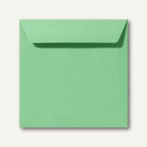 Farbige Briefumschläge 170 x 170 mm nassklebend ohne Fenster wiesengrün 500St.