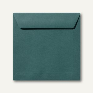 Farbige Briefumschläge 170 x 170 mm nassklebend ohne Fenster dunkelgrün 500St.