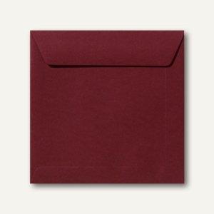 Farbige Briefumschläge 190 x 190 mm nassklebend ohne Fenster dunkelrot 500St.