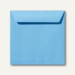 Farbige Briefumschläge 220 x 220 mm nassklebend ohne Fenster ozeanblau 500St.