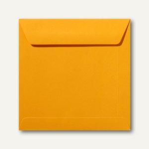 Farbige Briefumschläge 220 x 220 mm nassklebend ohne Fenster goldgelb 500St.