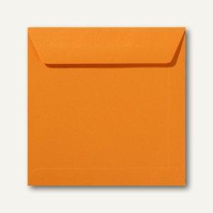 Farbige Briefumschläge 220 x 220 mm nassklebend ohne Fenster grellorange 500St.