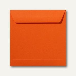 Farbige Briefumschläge 220 x 220 mm nassklebend ohne Fenster dunkelorange 500St.