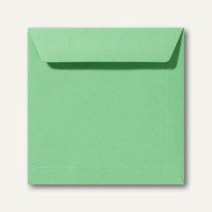 Farbige Briefumschläge 220 x 220 mm nassklebend ohne Fenster wiesengrün 500St.