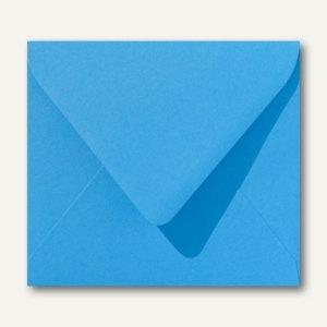 Farbige Briefumschläge 125 x 140 mm nassklebend ohne Fenster königsblau 500St.