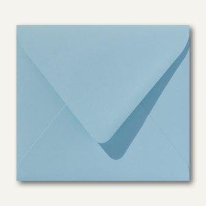 Farbige Briefumschläge 125 x 140 mm nassklebend ohne Fenster laguneblau 500St.