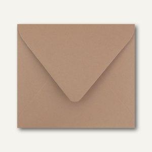 Farbige Briefumschläge 125 x 140 mm nassklebend ohne Fenster braun 500St.