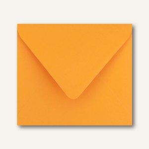 Farbige Briefumschläge 125 x 140 mm nassklebend ohne Fenster grellorange 500St.