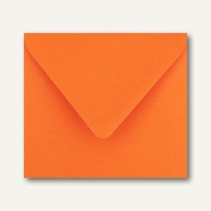 Farbige Briefumschläge 125 x 140 mm nassklebend ohne Fenster dunkelorange 500St.