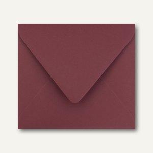 Farbige Briefumschläge 125 x 140 mm nassklebend ohne Fenster dunkelrot 500St.