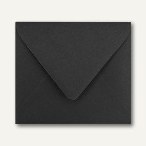Farbige Briefumschläge 125 x 140 mm nassklebend ohne Fenster schwarz 500St.