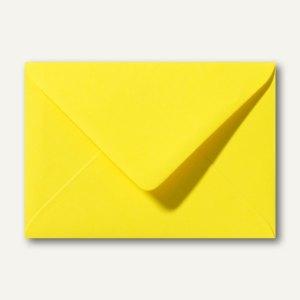 Farbige Briefumschläge 130 x 180 mm nassklebend ohne Fenster kanariengelb 500St.