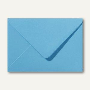 Farbige Briefumschläge 130 x 180 mm nassklebend ohne Fenster ozeanblau 500St.